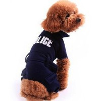 Amazon.com: Alfie Couture Designer Pet Apparel - Pavel Police Costume - Color: Navy, Size: XL: Pet Supplies