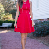 Love You Madly Dress, Red