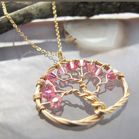 Tree of Hope, Breast Cancer Awareness Necklace  - 10% Charitable Donation