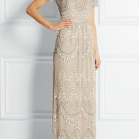 Needle & Thread | Tiered Petal embellished tulle gown | NET-A-PORTER.COM