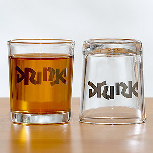 Drink Drunk Shot Glasses, Set of 2 | Drinkware| Kitchen & Dining | World Market
