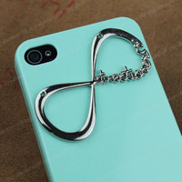 "Light Green Iphone 4 Case One Direction ""Directioner"" Infinity Iphone Case, One Direction Iphone 4 Case, Iphone 4S case,"