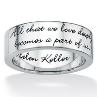 Amazon.com: Stainless Steel Inspirational Helen Keller Message Band: Jewelry