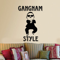 Gangnam Style Psy Vinyl Decal Sticker Wall decor art Funny Oppa Oppan