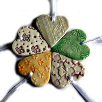 Wedding Favours, Heart Wedding Favors, 10 Heart Hanging Decorations Colours and Patterns of Choice, Unique Wedding Favours