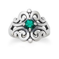 Spanish Lace Ring with Emerald | James Avery