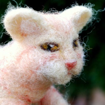 needle felted cat, custom order pet, felt orange cat, needle felted animal, needle felted pet, felt pet, felt custom pet, soft sculture pet