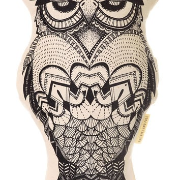 Grumpy Owl Throw Pillow