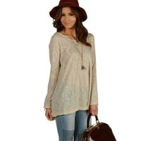 Taupe Chill Day Top