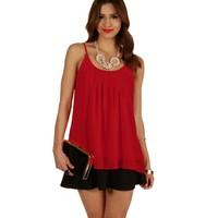 Red Easy Going Tank Top
