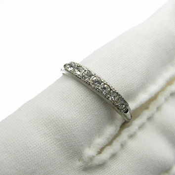 Vintage McGrath Hamin Sterling Silver Faux Diamond Ring