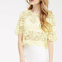 Boxy Floral Crochet Top