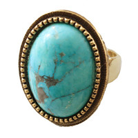 Alejandra Ring in Turquoise
