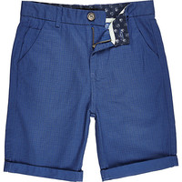 River Island Boys blue star print shorts
