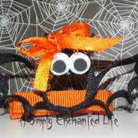Callie the Halloween Bat Hairclip by A Simply Enchanted Life