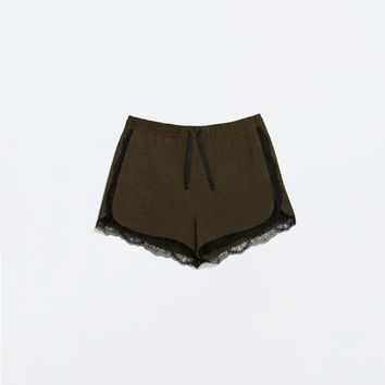 Lace combined shorts