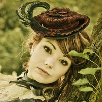The Byrone Pleated Victorian Hat by topsyturvydesign on Etsy