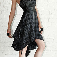Lip Service Plaid Paradox Punk Rock Dress