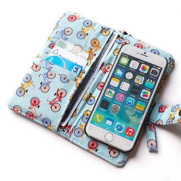 BICYCLE IPHONE WALLET Women iPhone wallet 6 Plus Purse iPhone 5s iPhone Sleeve iPhone Pouch Samsung Galaxy s4 s5 Note 3 Note 4 iPhone Bag
