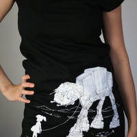 My Star Wars AT-AT Pet - American Apparel T Dress ( Star Wars ATAT Dress )