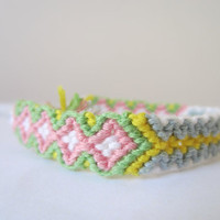 Braided Friendship Bracelet - Pretty Pastel