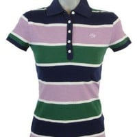 Tommy Hilfiger Women Striped Logo Polo T-Shirt