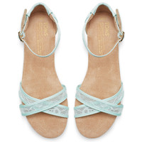 LIGHT BLUE LACE WOMEN'S CORREA SANDALS