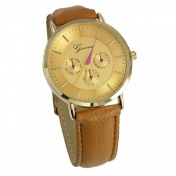 Brown Pink Hand Watch [10091989] - $25.00 : HandPicked | Jewelry, Monogram, Embroidery & Gifts | Free shipping on orders over $75