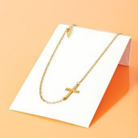 Sideways Religion Necklace