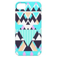 Bright Aqua Native Pattern iPhone 5 Case from Zazzle.com