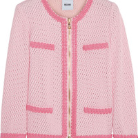 Moschino Cheap and Chic Open waffle-knit cotton-blend jacket – 50% at THE OUTNET.COM