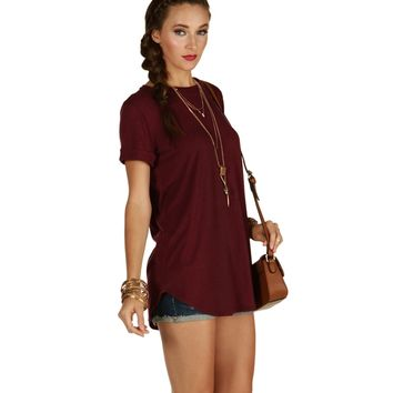 The Perfect Burgundy Tee