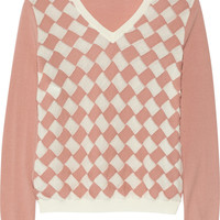 Moschino Cheap and Chic Basketweave wool and cotton-blend sweater – 65% at THE OUTNET.COM