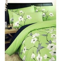 Dreams &amp;#39;n&amp;#39; Drapes Chic Chi Quilt Set Olive, King: Amazon.co.uk: Kitchen  Home