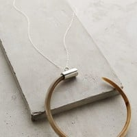 Curved Horn Pendant Necklace