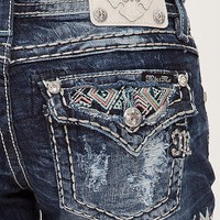 Miss Me Embroidered Stretch Short