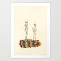 So You Can Stand Up For Me Art Print by Kristal Raelene Melson