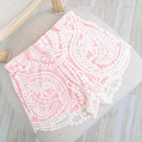 Pink Pixie Dust Lace Shorts