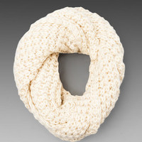 Paula Bianco Chunky Infinity Scarf in Cream from REVOLVEclothing.com