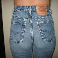 RARE Vintage 80&#x27;s LEVI&#x27;S 512 high waist SKINNY JEANS TIGHT ANKLE Size 7 Jr L