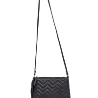 Brielle Chevron Purse - Black - One Size / Black