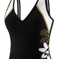 Speedo Gilded Floral Splice Tankini Top Female $36.00
