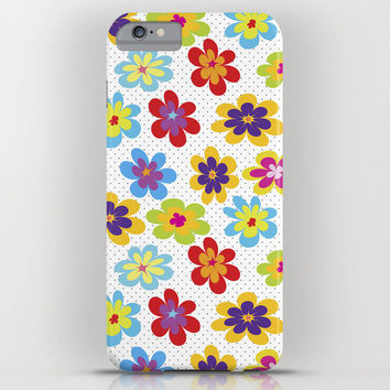 Valentine's Day Gift HIGH QUALITY iPhone CASE - iPhone6 iPhone6 Plus iPhone5 Slim and Tough options available - Happy Colorful Floral Phone