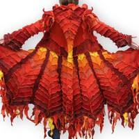 Recycled Sweater Coat The Phoenix Epic by greenoakcreations