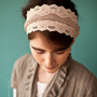 Vintage Stretch in Cappuccino - Garlands of Grace Something special headband 2012