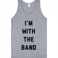 I'm With The Band-Unisex Athletic Grey Tank