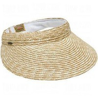 Dorfman Pacific Ladies Scala Braided Straw Visors $14.95 - $17.01