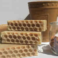 Honey Almond Soap - organic 100% all natural olive oil homemade soap local beeswax artisan normal - oily skin luxury unisex Connecticut made