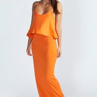 Polly Strappy Frill Top Maxi Dress