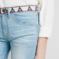 Free People Womens Isabelle Embroidered Flare - Isabella